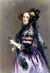 Ada Lovelace from Wikipedia (http://en.wikipedia.org/wiki/File:Ada_Lovelace_portrait.jpg)